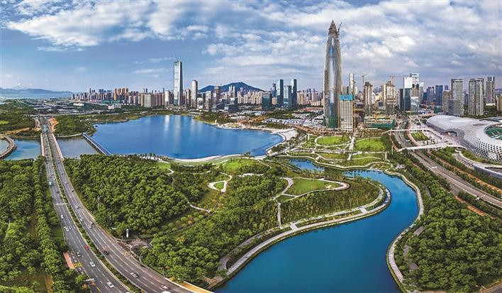 深圳人才公园营造公园与城市交相辉映,人才与城市共同繁荣的浓郁