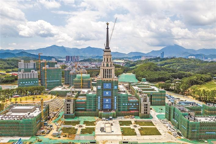 深圳北理莫斯科大学教学楼雏形已