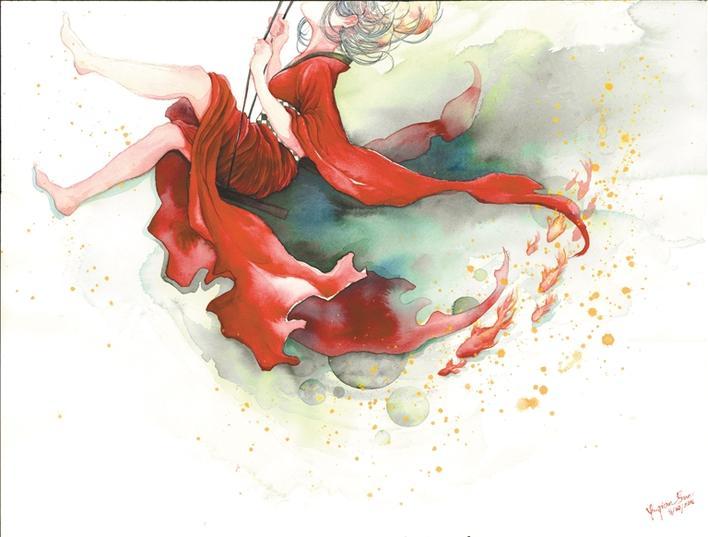 孙玉倩的手绘插画非常有感染力,尤其是她的水彩画大胆创新,收放自如
